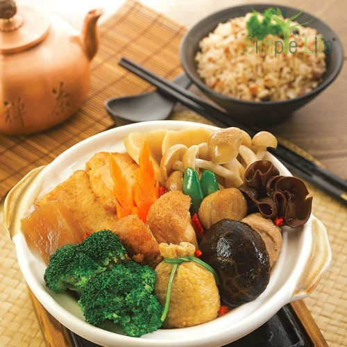 Treasure Pot with Multi-Grain Rice / 聚宝盆