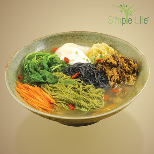Ginger Extract with Green Tea + Charcoal Mee Sua / 姜汁绿茶 + 竹炭面线汤