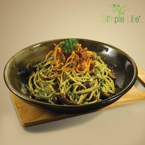 Pesto Sauce Spaghetti / 青酱意大利面