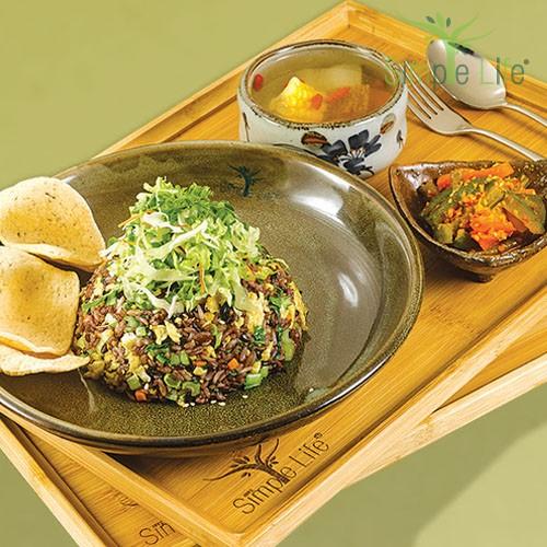 Seaweed Fried 10 Grains Rice / 紫菜炒十谷饭