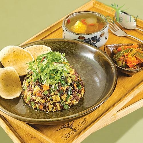 Basil Leaves Fried 10 Grains Rice / 九层塔炒十谷饭