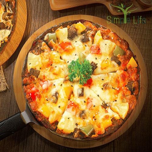 Hawaiian Charcoal Pizza / 夏威夷竹炭披萨
