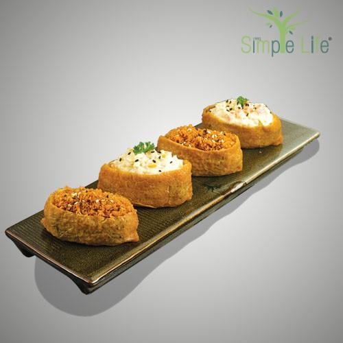 Egg + Potato & Soy Floss Inari / 鸡蛋 + 马铃薯 & 豆酥豆腐皮